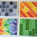 mosaic paint swatches fun on snow day
