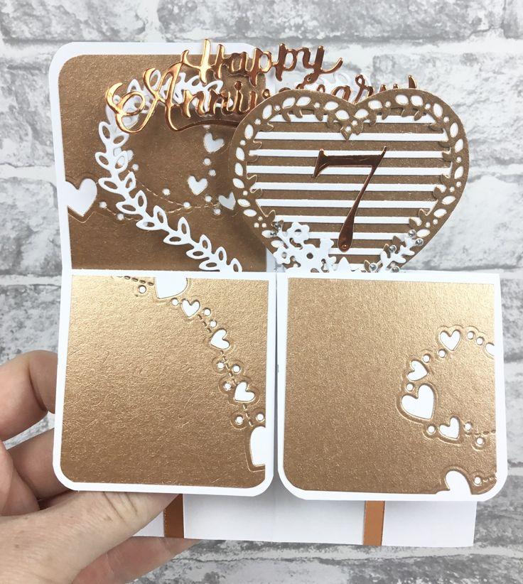 7th anniversary card copper wedding anniversary