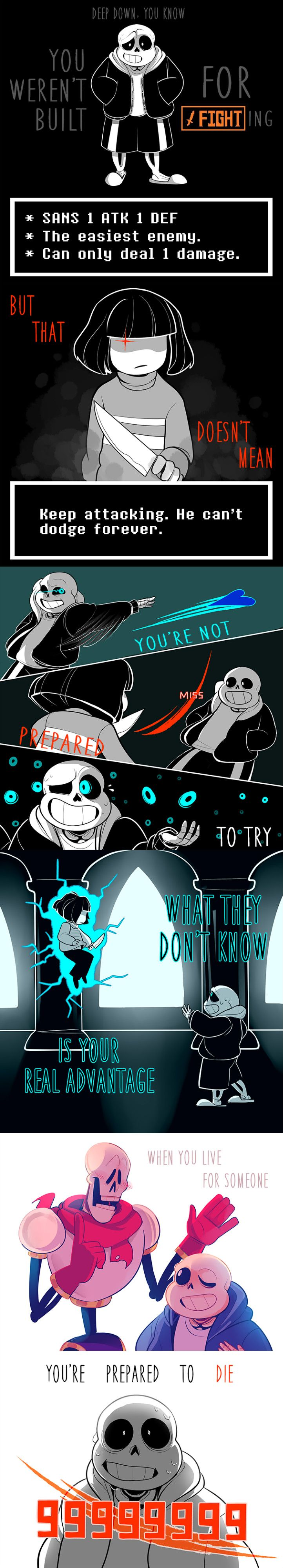 Sans and Chara - Stronger than you parody
