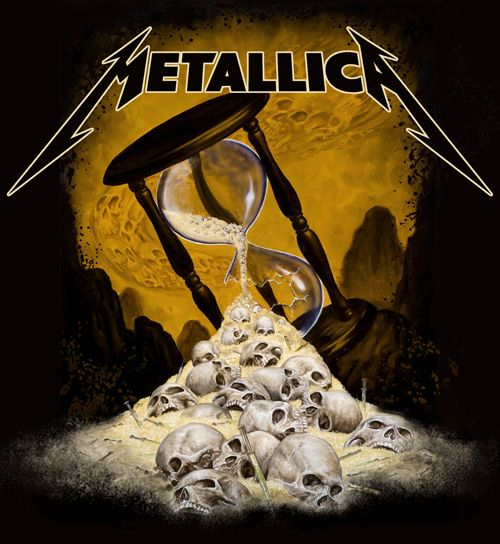 "T Shirt design for Metallica. Made with the song ""End of the Line"" in mind. I was very happy they used it! The shirt is available at"