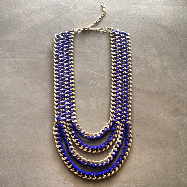 """The """"Royal Ziggy Mouth"""" necklace in cobalt blue by Hermina wristwear"""