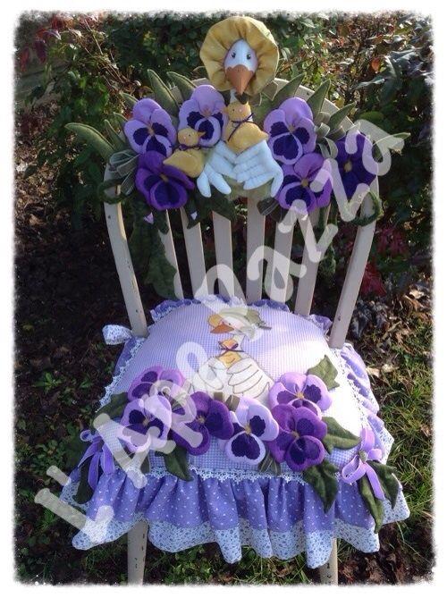 Cartamodelli papere e pecore primavera 2014 : Cartamodello cuscino spalliera con papera e Panse'