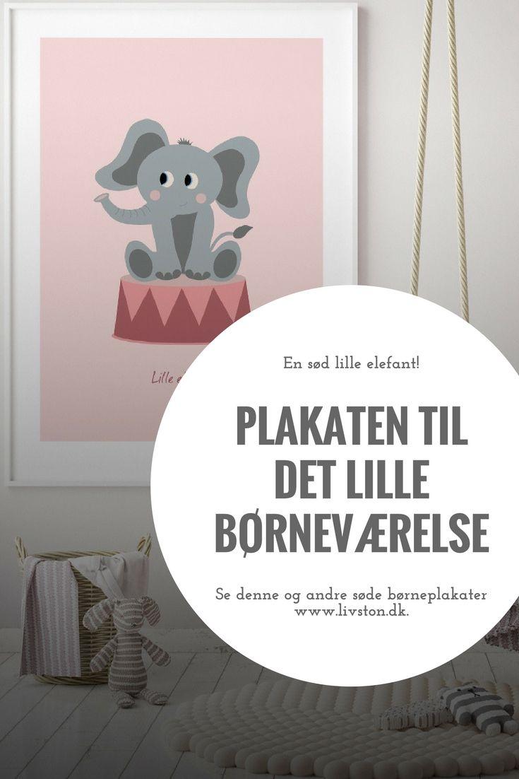 Sod Borneplakat Med Elefant Elefant Bornevaerelse Plakater