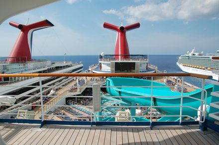 I should be here right now...on the deck of a Carnival Cruise Ship.