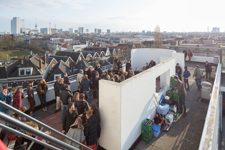 Dakterras Kruispleinflat, tijdens Poems From a Rooftop