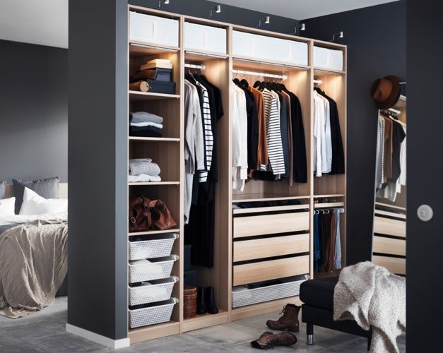 205 best attic storage images on pinterest attic closet - Amenagement dressing ikea ...