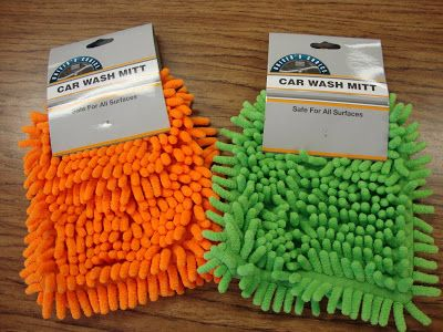 """Colorful WhiteBoard Eraser~  Confessions of a Nerdy Teacher writes, """"I got these car wash mitts form the dollar store –my  kids use them to clean the whiteboards and they think they are the greatest things ever!""""  Looks like a good, cheap way alternative to those special, expensive erasers."""
