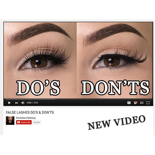 New video just went up on my YouTube channel  It's Do's and Don'ts when applying false lashes  Hit the link in my instagram bio to watch it
