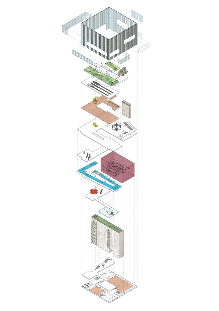 Exploded #Axonometric drawing - Very Nice