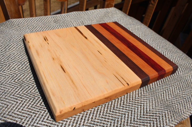 Small Handcrafted Wood Cutting Board by HappyKnotsDesigns on Etsy https://www.etsy.com/ca/listing/469166599/small-handcrafted-wood-cutting-board