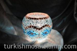 turkish mosaic candle holder (34) - Mosaic Turkish Lamps, Wholesale Turkish Mosaic Lamps, Ottoman Lamps, Turkish Lamps,Moroccon Lamp
