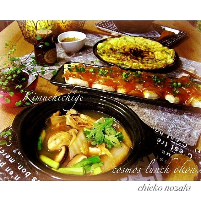 自家製のキムチとチヂミのタレは美味しいですよ꒰ •ॢ  ̫ -ॢ๑꒱✩ - 166件のもぐもぐ - 牡蠣のキムチチゲ☆豆腐ステーキ☆チヂミ꒰ •ॢ  ̫ -ॢ๑꒱✩ by 野崎智恵子