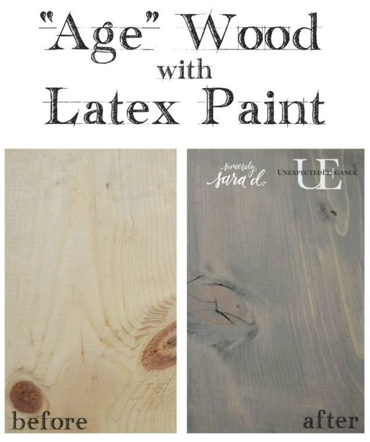 Do you love the look of weathered wood? Check out this tutorial for how to achieve a weathered look using latex paint!!  It's super easy and inexpensive.