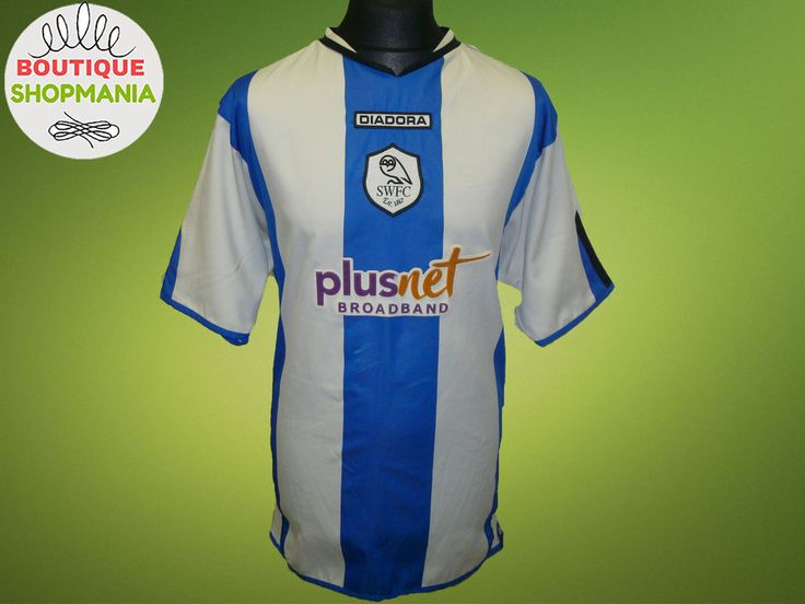 SHEFFIELD WEDNESDAY HOME 2005-2007 DIADORA (L) Football Shirt Jersey Camisa  #DIADORA #SheffieldWednesday