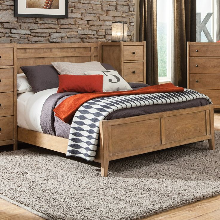American Woodcrafters Natural Elements Panel Bed, Size