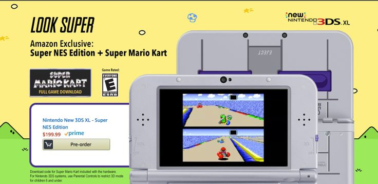 Buy Nintendo's New SNES-Themed 3DS XL, Get Super Mario Kart For Free