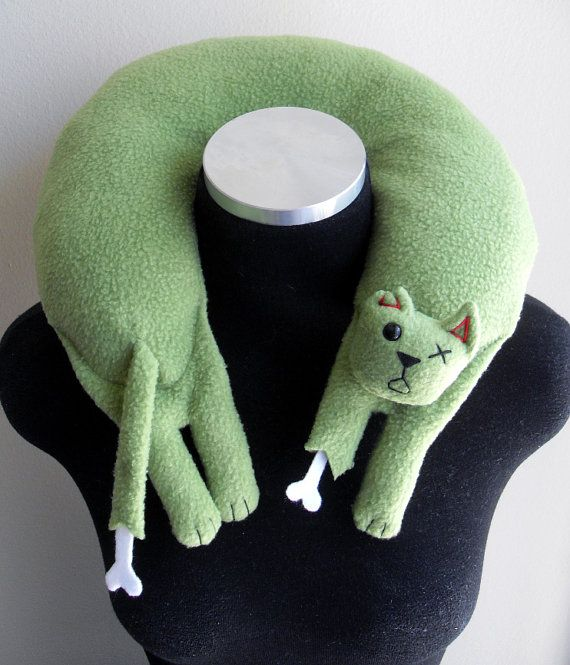 Hey, I found this really awesome Etsy listing at https://www.etsy.com/listing/78352554/zombie-cat-travel-neck-pillow