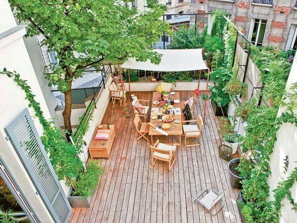 Comedores en terrazas urbanas