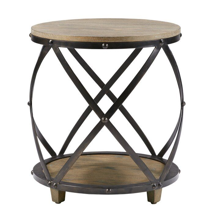 Rubino End Table With Storage In 2020 Metal Accent Table Metal End Tables Wood Accent Table