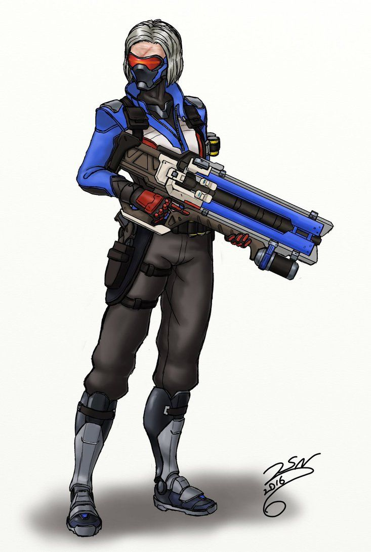 Female soldier 76 cosplay