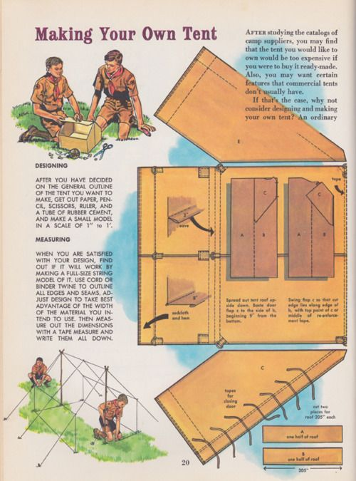 Make your own tent diy camp gear pinterest tent for How to make a canvas tent