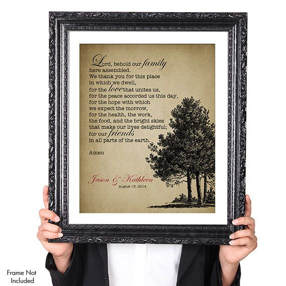 the wedding prayer wedding tree print personalized wedding gift couples art gift for wife husband vintage image 8x10