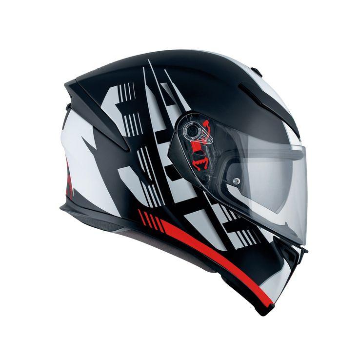 AGV K5 Darkstorm Matt Black Red Helmet