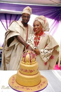 A typical yoruba wedding attire