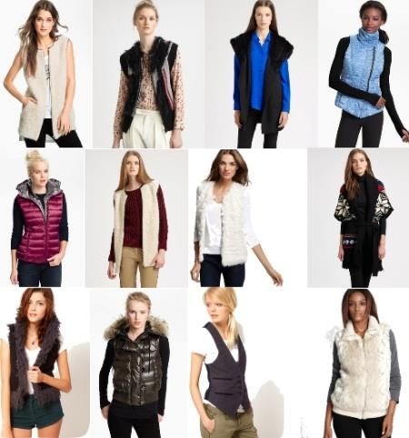 Модные жилеты и жакет