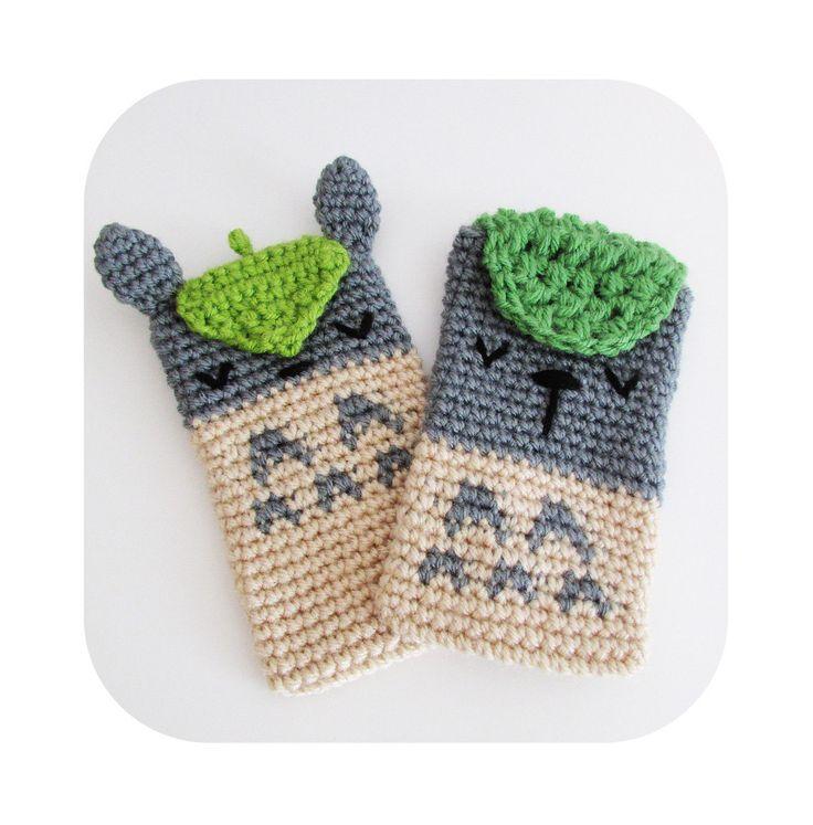 phone sleeve - phone case - phone cozy - totoro phone case - totoro phone cozy - knit crochet phone case - kawaii anime totoro phone sleeve by HELLOhappy on Etsy