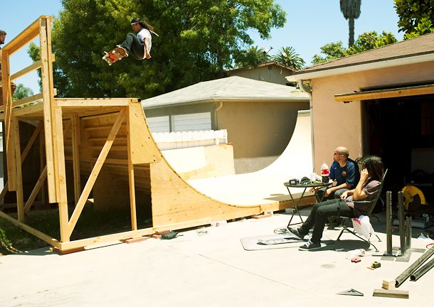 how to build a skate ramp out of concrete