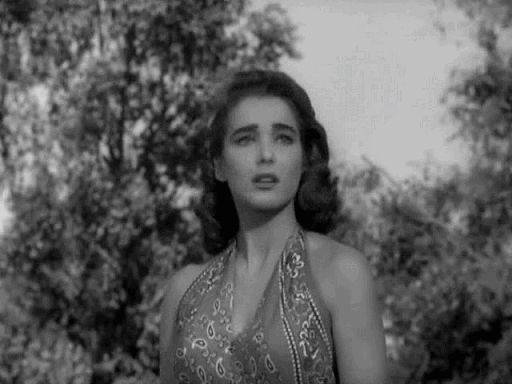 Julie Adams (and ' the Creature') in the movie Creature from the Black Lagoon…