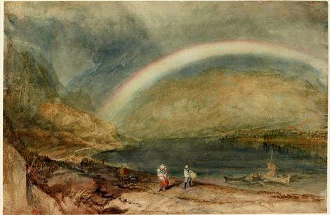 JMW Turner, The Rainbow: Osterspai and Filsen (1817) on ArtStack #jmw-turner #art