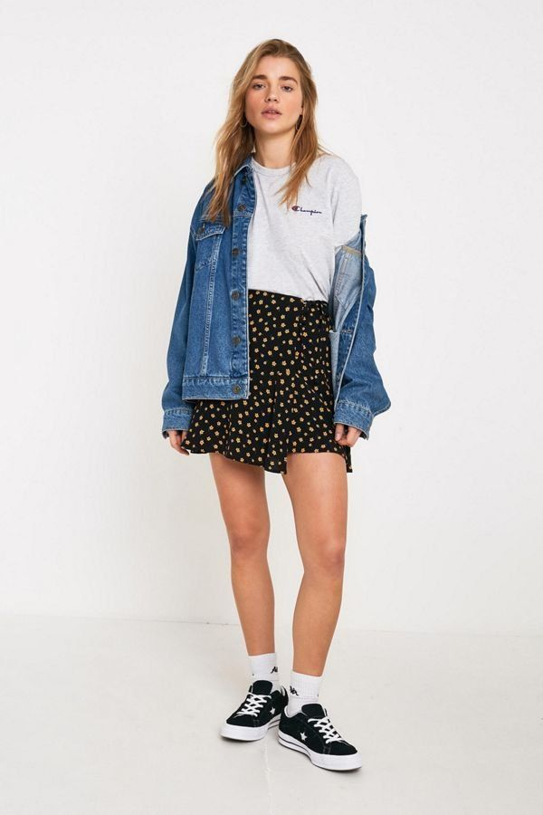d8be18f06657e UO Floral Wrap Mini Skirt in 2019 | New Arrivals | Mini skirts ...