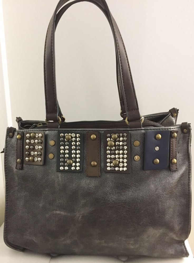 Taschen : Damen Handtasche mit Nieten und Glitzer