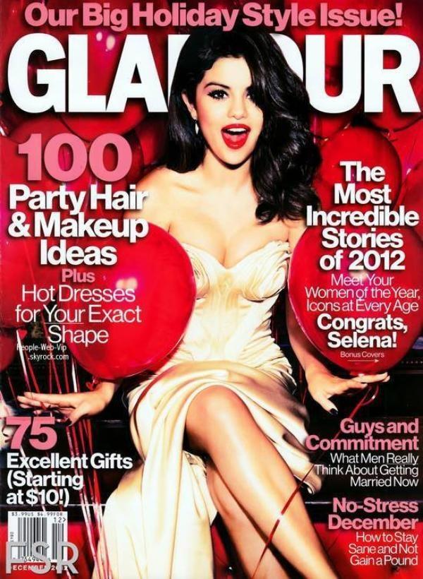 """Selena Gomez Pose pour le magazine """" Glamour """" Décembre 2012"""