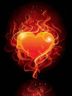 Love fire heart gif