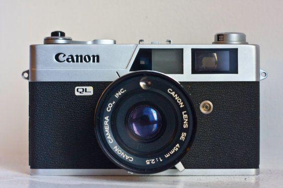 Canon Canonet QL25 Rangefinder Camera by SunsetCamera on Etsy, $15.00