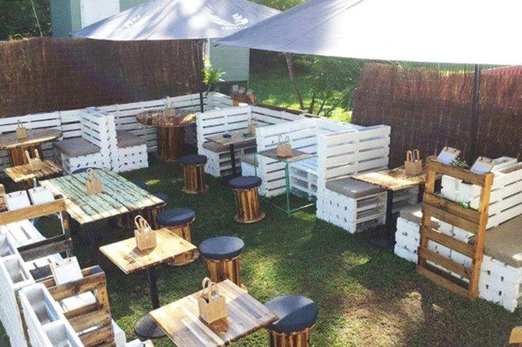 Wooden Pallet Cafe Furniture Plans                                                                                                                                                                                 More