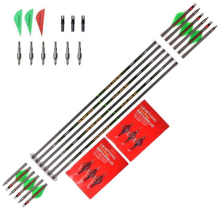 """Spine 350 Length 31"""" MAK Carbon Arrow 6/12/24pcs Arrows"""