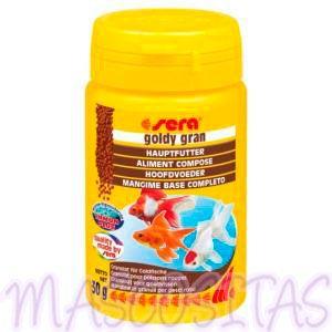 sera Goldy Color Spirulina. El granulado especial, que intensifica los colores para carpas doradas y otros peces de agua fría.
