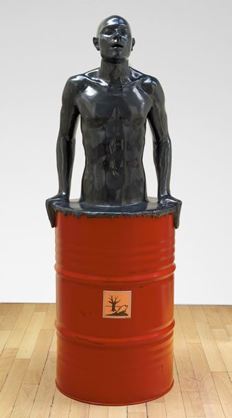 Image result for powerful images about pollution in sculptures