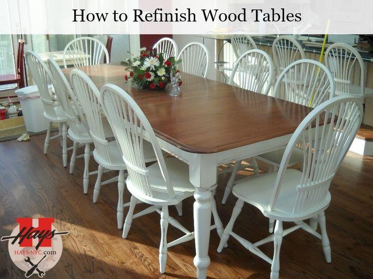 How To Refinish Wood Tables? Follow The Easy U0027DIYu0027 Steps