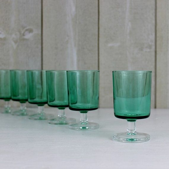 Vintage French shot glasses