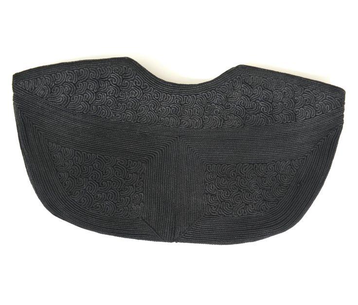Cordelia | Vintage 40s Black Cordé Handbag | 1940s Large Envelope Clutch by RevengeOfTheDress on Etsy