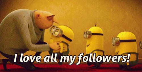 Eu amo todos os meus seguidores