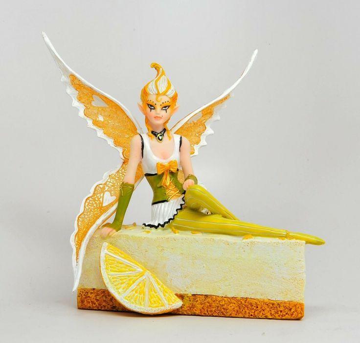 Sugarsweet Lemon Cheesecake Fairy Figurine by Anne Stokes - Burning Desires Gifts