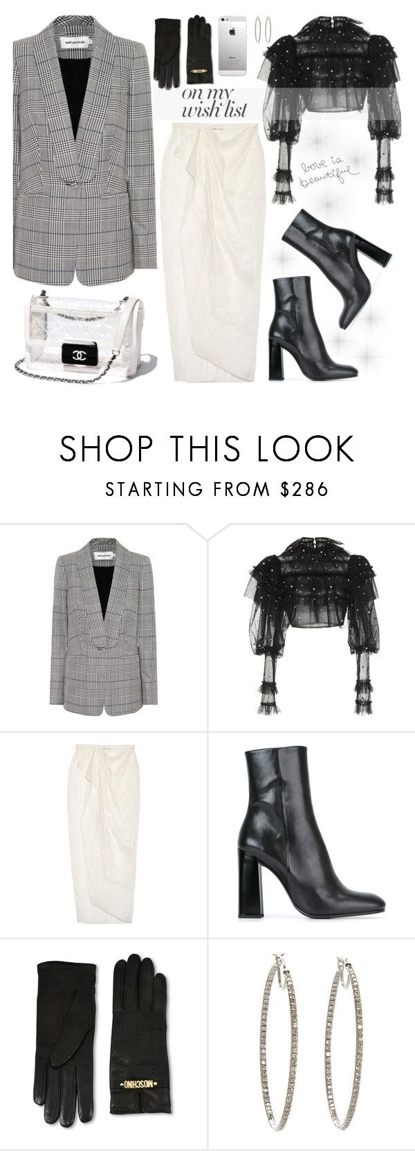 """""""#PolyPresents: Wish List"""" by mell-m ❤ liked on Polyvore featuring self-portrait, Rodarte, Baja East, Jil Sander, Moschino, Cathy Waterman, AT&T, contestentry, polyvorecontest and polyvorefashion"""