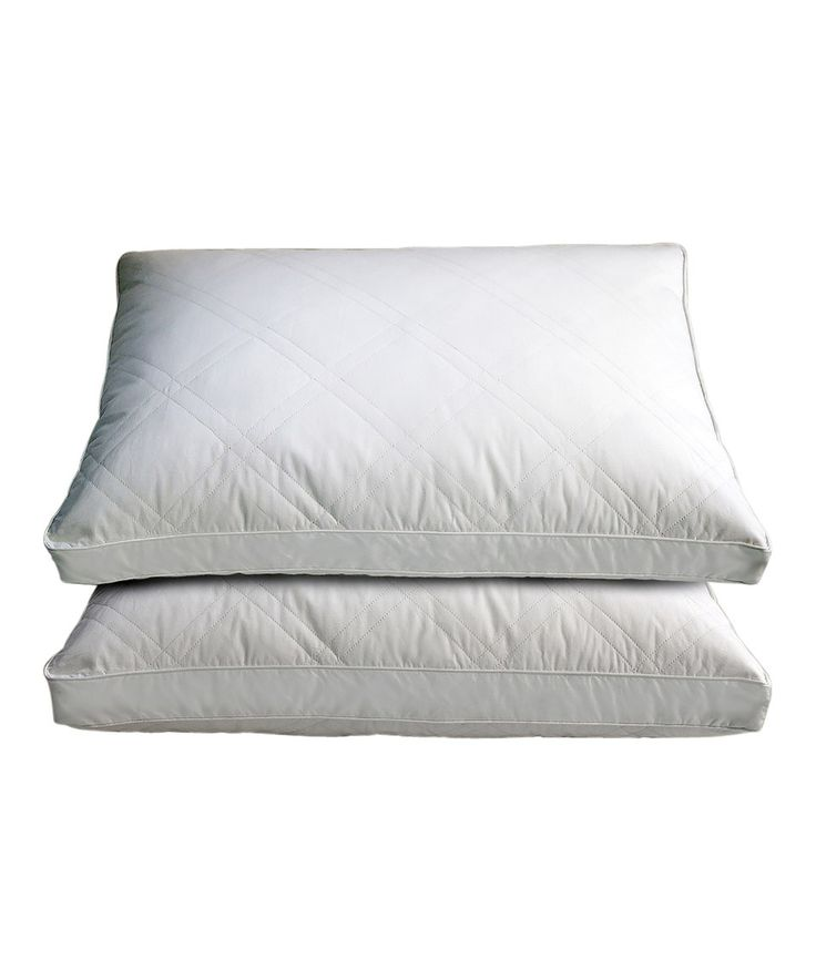 Love this Gusseted Sidewall Quilted Goose Down Pillows - Set of Two by Hotel Grand Collection on #zulily! #zulilyfinds