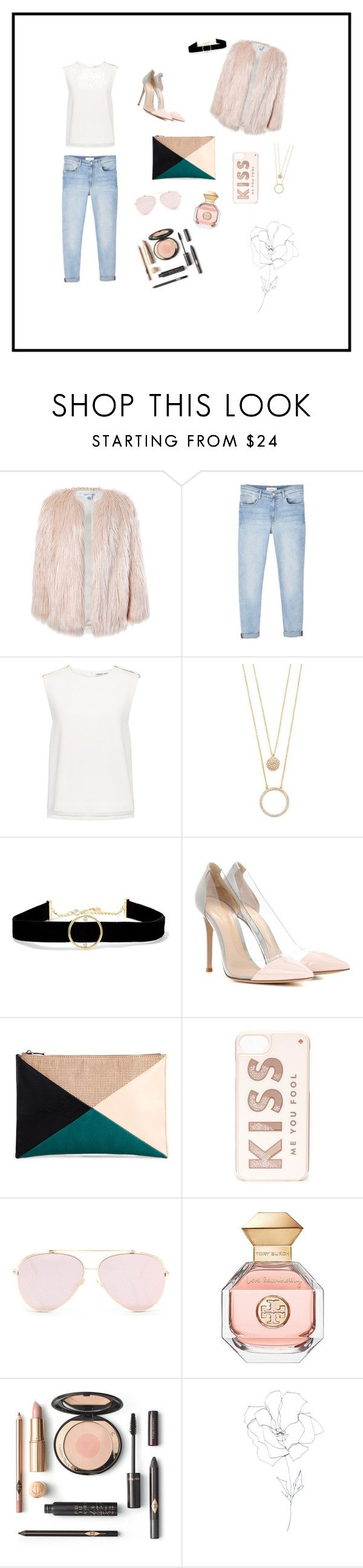 """""""x5"""" by avrlvgn ❤ liked on Polyvore featuring Sans Souci, MANGO, Finders Keepers, Kate Spade, Anissa Kermiche, Gianvito Rossi, Sole Society, Tory Burch and Blume"""